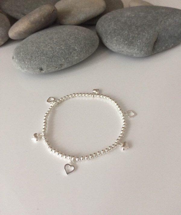 sterling silver heart bracelet 5e457156