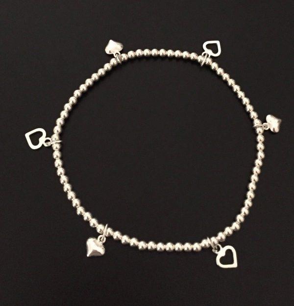 sterling silver heart bracelet 5e457160