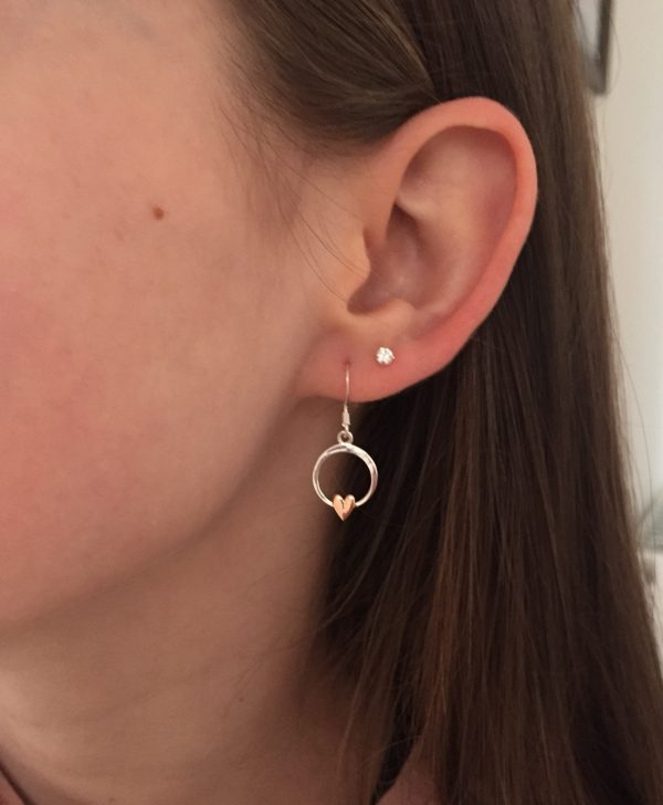 sterling silver heart earrings 5e457790