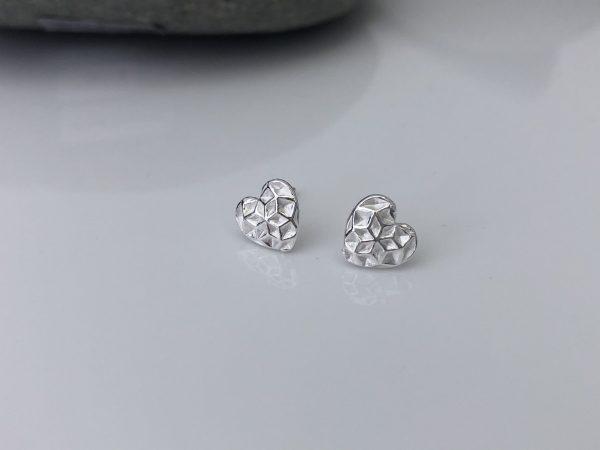 sterling silver heart stud earrings 5e456baf scaled