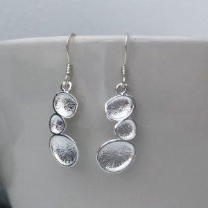 sterling silver pebble earrings 5e45ab47