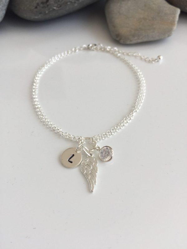 sterling silver personalised angel wing bracelet 5e457040 scaled
