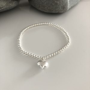 sterling silver puffed heart bracelet 5e457543 scaled