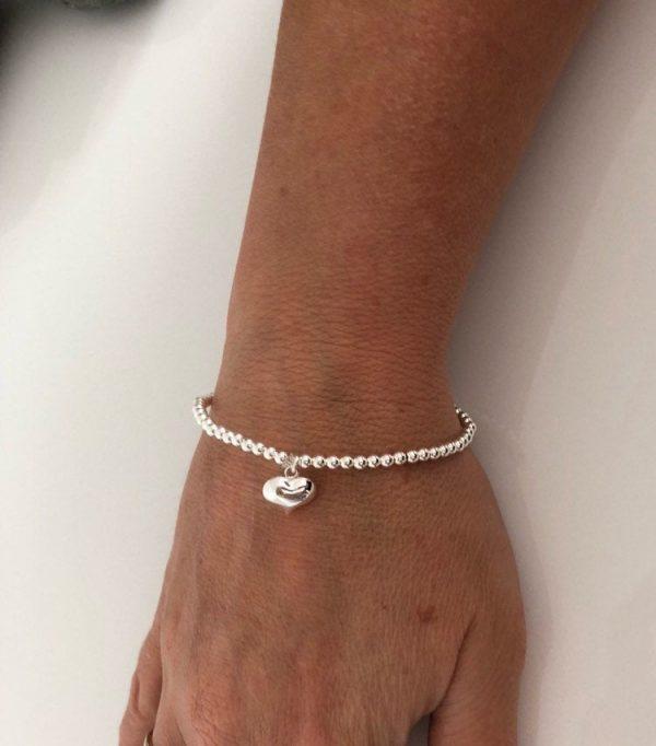 sterling silver puffed heart bracelet 5e457551