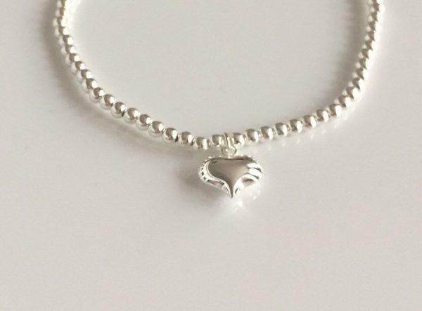 sterling silver puffed heart bracelet 5e45755a