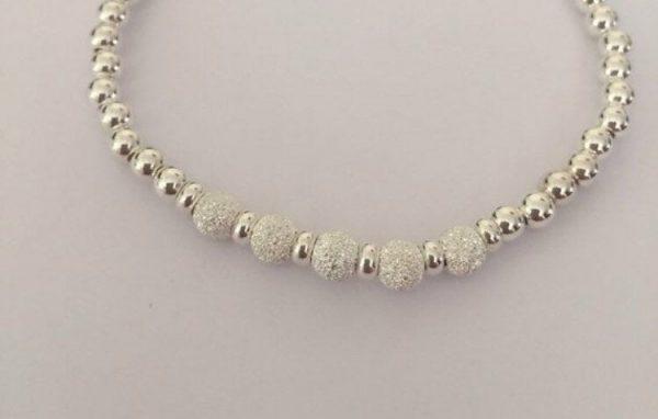 sterling silver stardust bead bracelet 5e459ec0