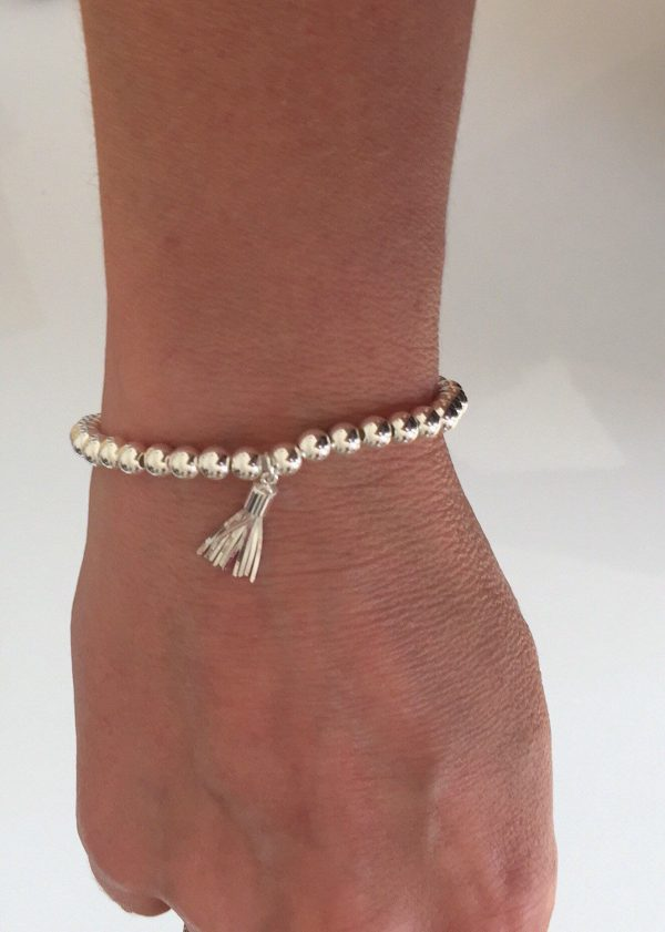 sterling silver tassel bracelet 5e45b63f