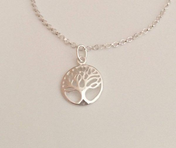 sterling silver tree of life chain bracelet 5e45ceea