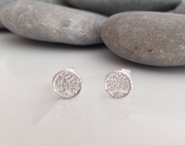 sterling silver tree of life stud earrings 5e45ccb2