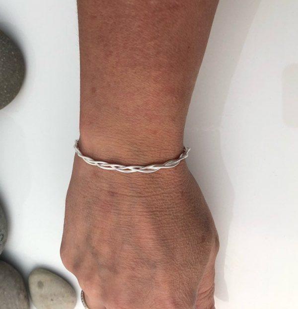 sterling silver woven bracelet 5e45b3d8