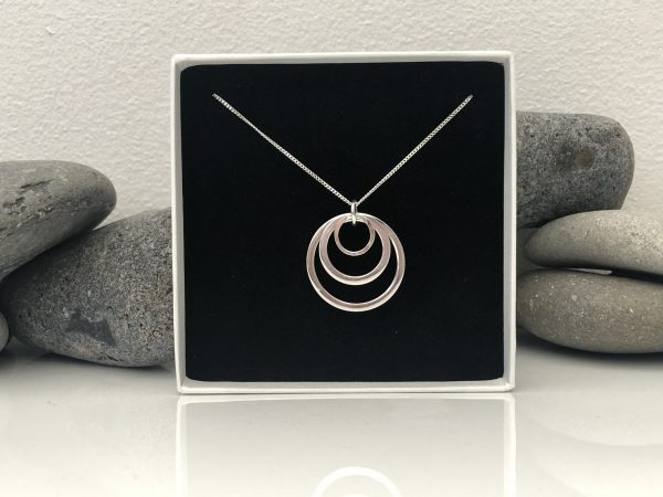triple circle silver necklace 5e45964a scaled