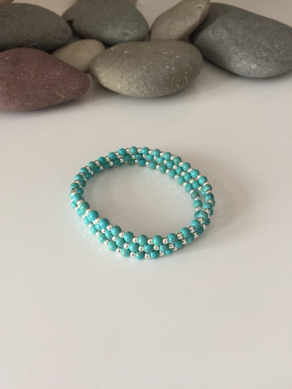 turquoise and sterling silver stacking bracelets 5e45a31f scaled