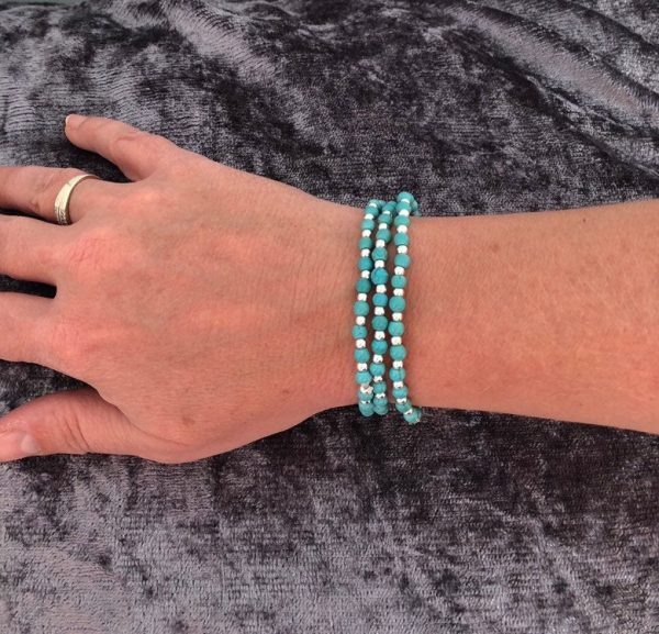 turquoise and sterling silver stacking bracelets 5e45a331